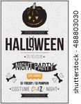 halloween party poster  flyer ... | Shutterstock .eps vector #488803030