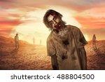 Zombie Man Walking In The...
