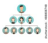 career ladder. flat desing | Shutterstock .eps vector #488808748