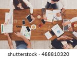 business meeting. young people... | Shutterstock . vector #488810320