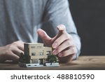 housing image and men | Shutterstock . vector #488810590