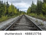 Rail Road In A Forest