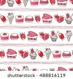 doodle seamless colorful... | Shutterstock . vector #488816119