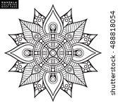 flower mandala. vintage...   Shutterstock .eps vector #488818054