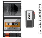 vector illustration dictaphone... | Shutterstock .eps vector #488819074