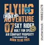 air racing illustration ... | Shutterstock .eps vector #488821678