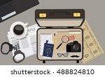 vector illustration top view... | Shutterstock .eps vector #488824810