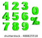 set of 3d figures and percent... | Shutterstock .eps vector #488825518