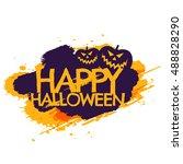 happy halloween grungy poster | Shutterstock .eps vector #488828290