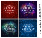 christmas typography greeting... | Shutterstock .eps vector #488833576