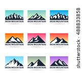 set of various vector mountains ... | Shutterstock .eps vector #488833858
