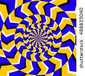 psychedelic optical spin...   Shutterstock .eps vector #488835040