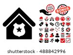 police office icon with bonus... | Shutterstock .eps vector #488842996