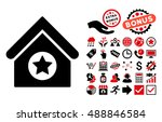 military building icon with... | Shutterstock .eps vector #488846584