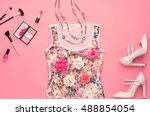 fashion woman clothes... | Shutterstock . vector #488854054