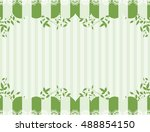 lace and leaf frame | Shutterstock .eps vector #488854150