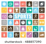 sports icons set | Shutterstock .eps vector #488857390