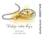hand drawn vintage postcard. a... | Shutterstock .eps vector #488857648