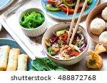 Asian Salad With Chicken Stir...