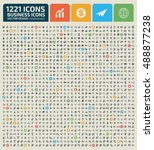big icon set business icon... | Shutterstock .eps vector #488877238