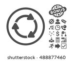 rotate cw icon with bonus...   Shutterstock .eps vector #488877460