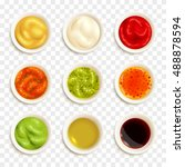 set of color icons depicting... | Shutterstock .eps vector #488878594