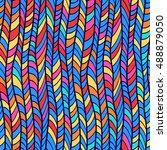 abstract seamless pattern.... | Shutterstock .eps vector #488879050