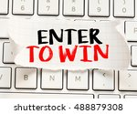 Small photo of Enter to win./ Enter to win card with information on the keyboard