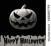 halloween pumpkin jack lantern...   Shutterstock .eps vector #488880799
