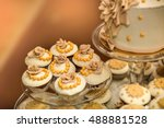 gold candy bar. cakes.... | Shutterstock . vector #488881528