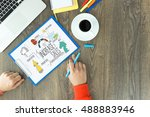 business company finance and... | Shutterstock . vector #488883946