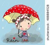 cute cartoon girl girl with an...   Shutterstock .eps vector #488884528