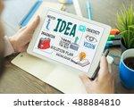 solution creativity business... | Shutterstock . vector #488884810