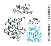 set of hand drawn vector quotes.... | Shutterstock .eps vector #488886550
