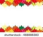 autumn background rectangular... | Shutterstock .eps vector #488888383