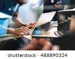 startup programming team....   Shutterstock . vector #488890324