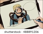 stock illustration. people in... | Shutterstock .eps vector #488891206