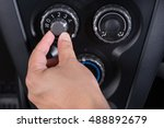 turn on car air conditioner... | Shutterstock . vector #488892679