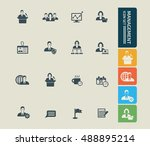 management  businessman icon... | Shutterstock .eps vector #488895214