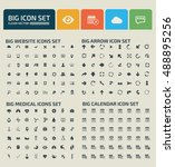big icon set design clean... | Shutterstock .eps vector #488895256