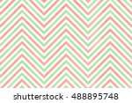 watercolor light pink and mint... | Shutterstock . vector #488895748