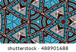 abstract hand painted... | Shutterstock . vector #488901688