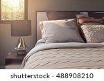 elegance style pillows setting... | Shutterstock . vector #488908210