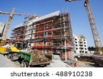 large construction site with... | Shutterstock . vector #488910238