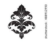 vintage baroque element...   Shutterstock .eps vector #488912950