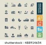 industry icon set vector   Shutterstock .eps vector #488914654