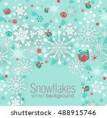 christmas background with... | Shutterstock .eps vector #488915746