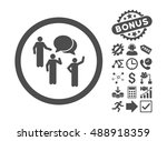 forum persons icon with bonus... | Shutterstock .eps vector #488918359