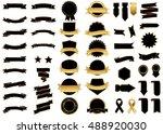 ribbon black vector icon on... | Shutterstock .eps vector #488920030