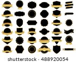 ribbon black vector icon on... | Shutterstock .eps vector #488920054